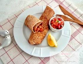 Wraps aux haricots blancs et salsa mexicaine à la tomate