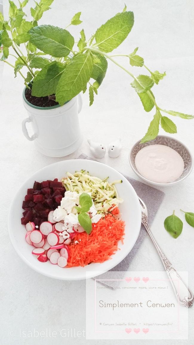 Buddah bowl healthy et sauce au beurre de cacahuète