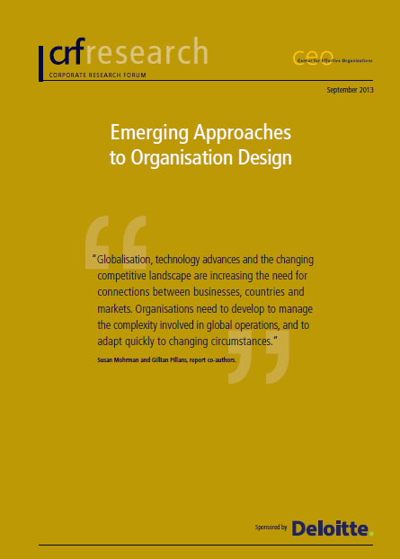 Emerging Approaches to Organisation Design