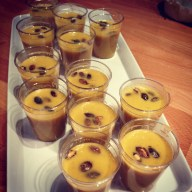 Cream of Coconut Pumpkin Soup with toasted pumpkin seeds
