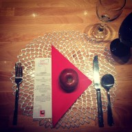 The table setting at Fanatic Kitchen Studio