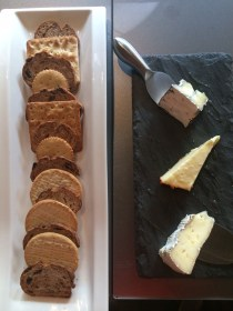Cheese Plate featuring Chef's Selection of Cheese, Walnut Raisin Bread, Truffle Honey and Fig Jam