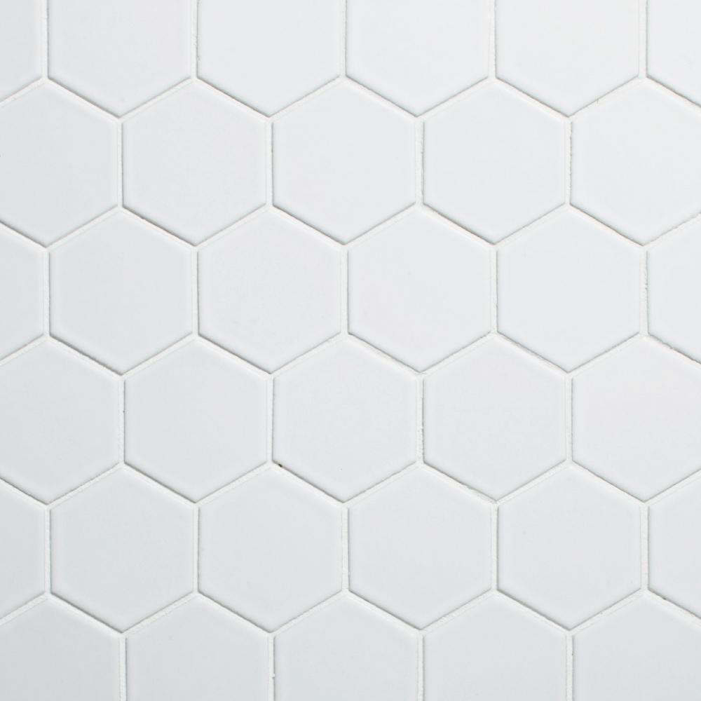 retro hex 21m matte white