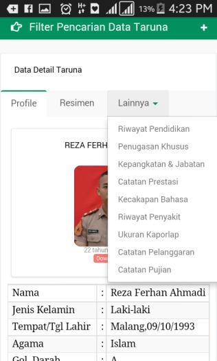 aplikasi database taruna