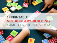 17 Printable Vocabulary Building Games within [keyword