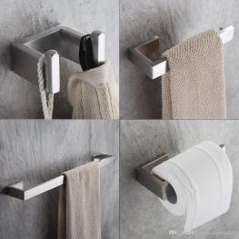 2019 Bath Hardware Sets 304 Stainless Steel Bathroom Accessories Set Single Towel Bar Robe Hook Paper Holder Flg90012ss From Bathroomplumbing intended for 20+ Funky Bathroom Accessories Set
