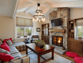22 Beautiful Living Rooms With Fireplaces inside ucwords]