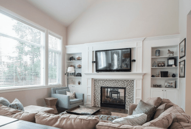 22 Beautiful Living Rooms With Fireplaces throughout [keyword