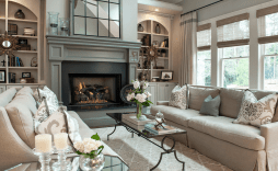 22 Beautiful Living Rooms With Fireplaces with [keyword