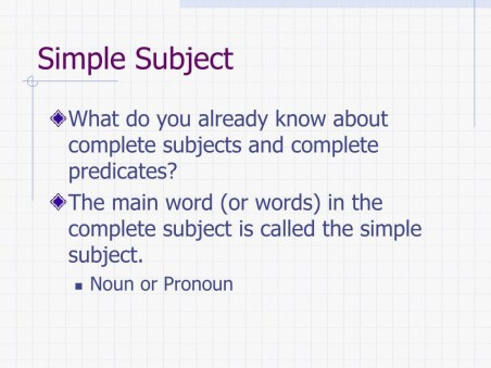 39 Elegant Of Simple Subject And Predicate Collection intended for ucwords]