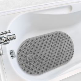 Antimicrobial Hair Catcher Bath Tub Mat with ucwords]
