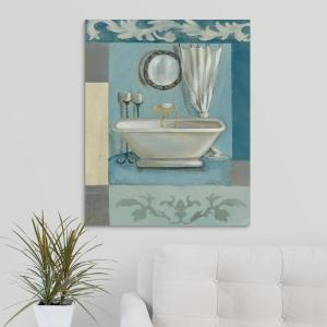 Antique Bath Ii Silvia Vassileva Canvas Wall Art throughout 23+ Outstanding Bathroom Wall Art Canvas