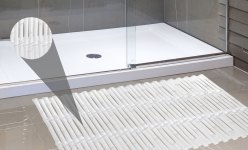 Bamboo Look Vinyl Bath Tub Mat Size 16 X 32 In Super Clear for ucwords]