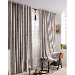 Chinese Words Printed Blackout Living Room Light Grey Curtains Chs1331 with ucwords]