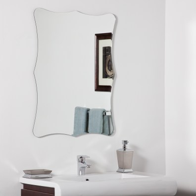 Dcor Wonderland Bailey Modern Bathroom Mirror 236 Inx315 In with 24+ Fantastic Frameless Bathroom Mirrors