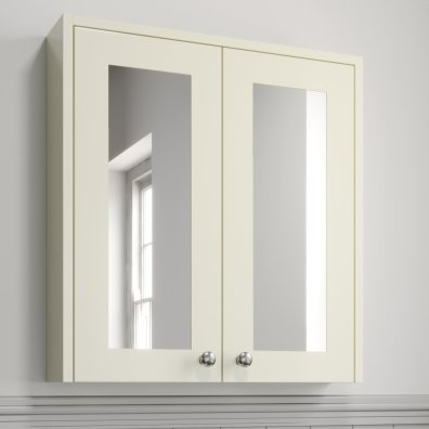 Details About 600mm Bathroom Mirror Cabinet Storage Cupboard Wall Mounted Ivory Traditional regarding 23+ Fine Bathroom Mirror Cabinet