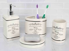 Details About Home Basics New Paris Collection 4 Piece Bathroom Accessory Set Ba41266 pertaining to [keyword
