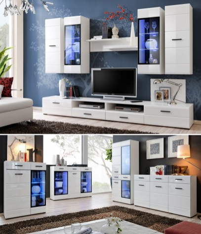 Details About Modern Living Room Furniture Set Tv Unit Shelf Cabinet Wall Cupboard Stand Gloss with [keyword
