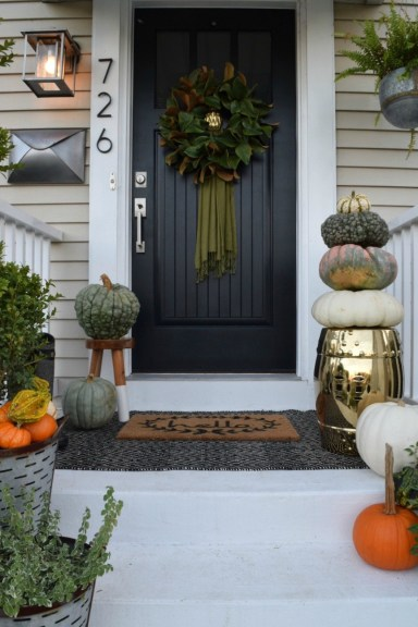 Fall Front Porch Outside Our Little Cape Nesting With Grace regarding 10+ Imaginative Fall Porch Decorating Ideas To Make Yours Unforgettable