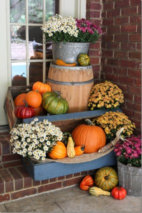 Fall Porch Decor With Plants And Pumpkins Unskinny Boppy pertaining to 10+ Imaginative Fall Porch Decorating Ideas To Make Yours Unforgettable