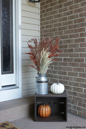 Front Porch Fall Decor Milk Can A Cup Full Of Sass in 10+ Imaginative Fall Porch Decorating Ideas To Make Yours Unforgettable