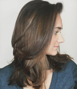 Hairstyle Hairstyles For Thick Medium Length Hair Home Design Very intended for [keyword