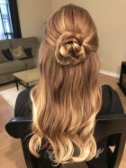 Hairstyles Rose Flower Hair Updo Half Up Down Hairstyle For Prom regarding [keyword