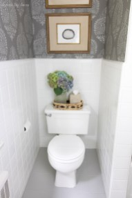 How I Painted Our Bathrooms Ceramic Tile Floors A Simple And pertaining to ucwords]