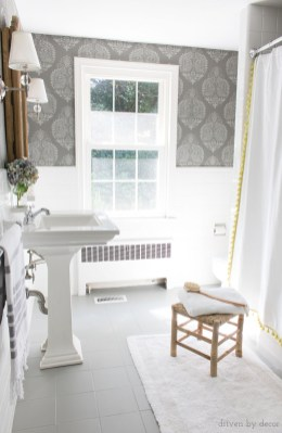How I Painted Our Bathrooms Ceramic Tile Floors A Simple with ucwords]