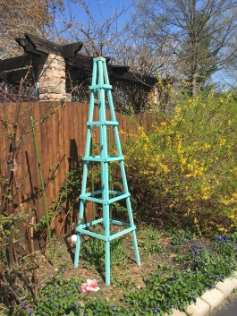 In The Little Yellow House Rustic Garden Obelisks pertaining to [keyword