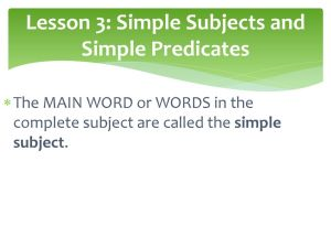 Lesson 3 Simple Subjects And Predicates Ppt Download intended for [keyword