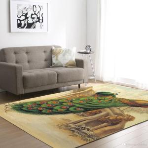 Living Room Carpet With Peacock Drawingdinning Room Carpet With Minimal Peacock Design Footcloth Drawing And Size Customizable Carpet Mohawk Multi within [keyword
