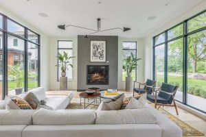 Living Room With Fireplace And Floor To Ceiling Windows intended for ucwords]