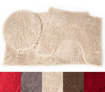 Luxury Chenille Contour Bathroom Rugs Innovative Rugs Design throughout [keyword
