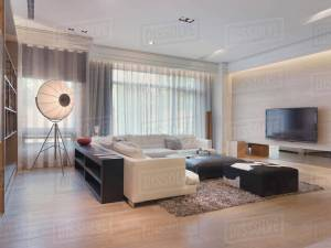 Modern Living Room With Shag Carpet D145203048 with regard to [keyword