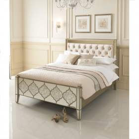 Sassari Mirrored Bed Venetian Glass Collection regarding ucwords]