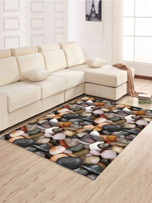 Simple North Europe Style Rug Cobblestone Pattern Floor Mat Living Room Bedroom Carpet throughout ucwords]