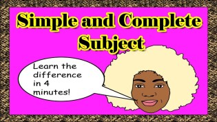 Simple Subject And Complete Subject The Parts Of A Sentence with ucwords]