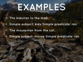 Simple Subjects And Predicates Nms6thgradela within ucwords]