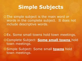 Subjects And Predicates Ppt Download in ucwords]