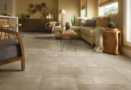 Tile Rustic Farmhouse Living Room Flooring Designs inside 14+ Attractive Tile Living Room