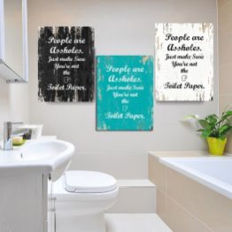 Us 134 30 Offvintage Toilet Paper Inspirational Quotes Wall Art Paintings Diy Photo Framed Prints Posters Pictures Frame Bathroom Home Decor In for [keyword