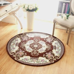 Us 3069 25 Offluxury Europe Jacquard Round Carpet Size 90120cm Parlor Living Room Bath Mats Chair Rugs Home Hotel Decorate Use High Quality In with ucwords]