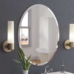 Wade Logan Callison Oval Bevel Frameless Wall Mirror within ucwords]