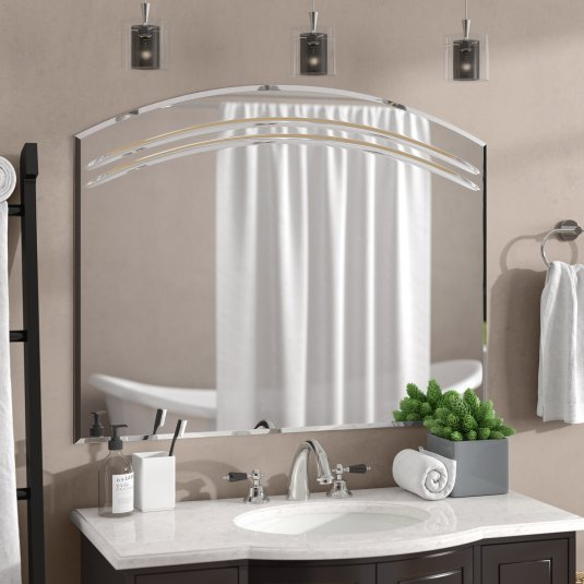 Wallingford Large Frameless Wall Mirror regarding [keyword
