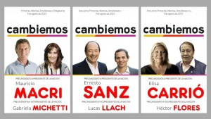 Mauricio Macri y Gabriela Michetti - Sanz - Carrió