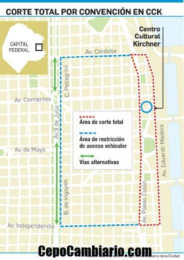 Tránsito vehicular cerrado por 4 días en la City