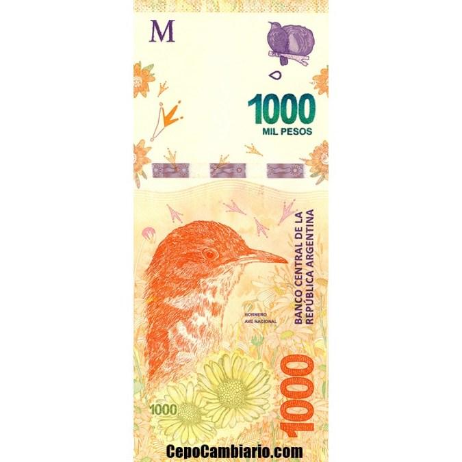 Nuevo billete de $1000.- ya en circulación