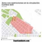 El mapa con todos los cortes de calles por la cumbre del G20 en la Ciudad
