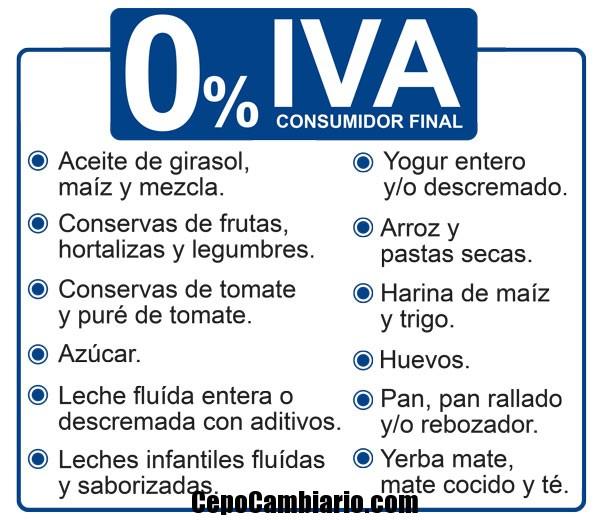 13 alimentos que desde hoy tendrán 0% de IVA
